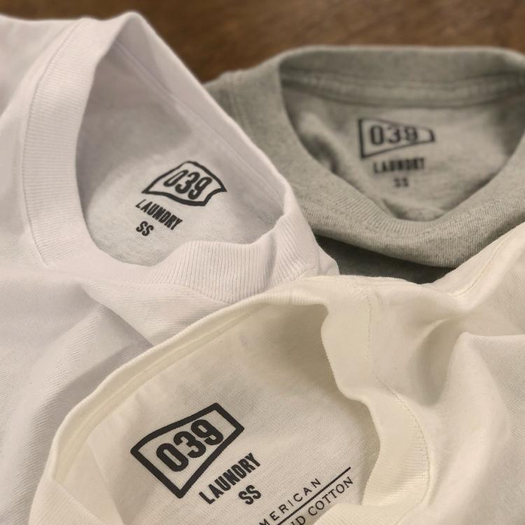 039 LAUNDRY無地Tシャツコレクションに「Extra Small」サイズが登場!