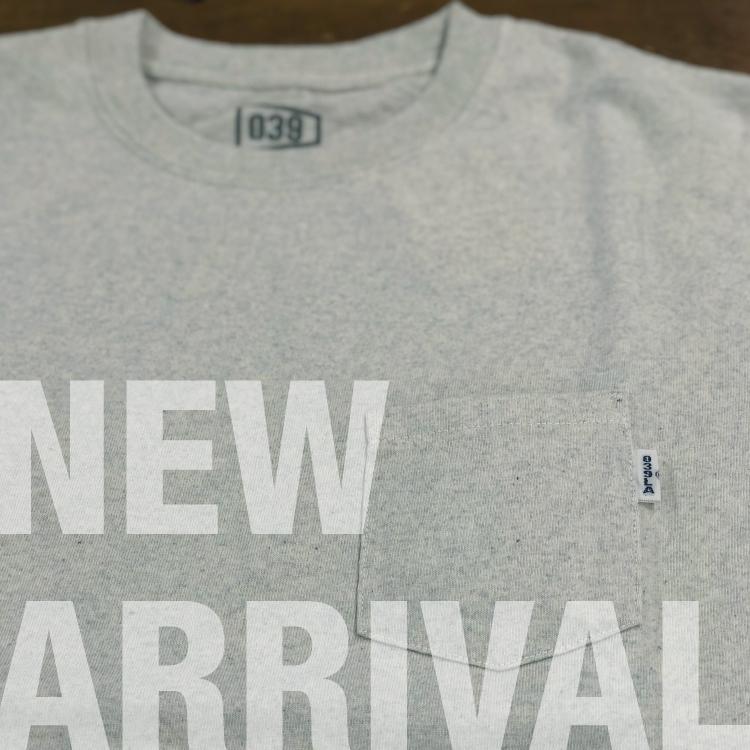【039】好評のDENIM MIX Tシャツに「ポケットTシャツ」が登場!