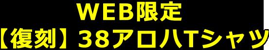 WEB限定・【復刻】38アロハTシャツ